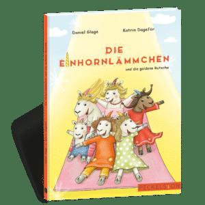 Peckelston Kinderbuchverlag Daniel Glage Katrin Dageför Die Einhornlämmchen und die goldene Rutsche